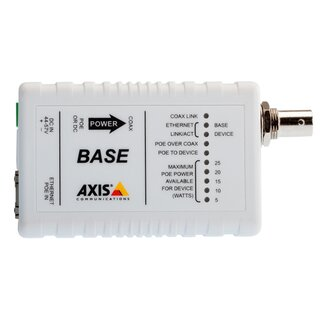 AXIS T8641 POE+ OVER COAX BASE Medienkonverter
